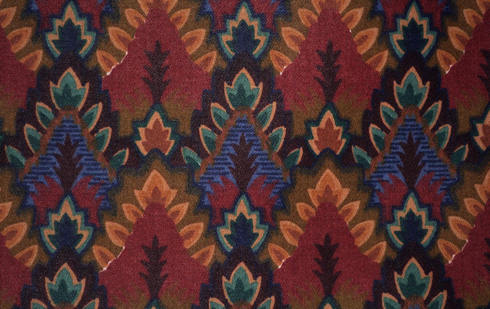 Vintage Upholstery Fabric Waverly Usa Seamless Repeat Desert