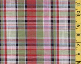 Tartan plaid apparel fabric Woven rayon