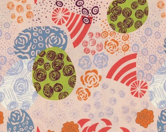 Modern Asian abstract floral Alexander Henry fabric
