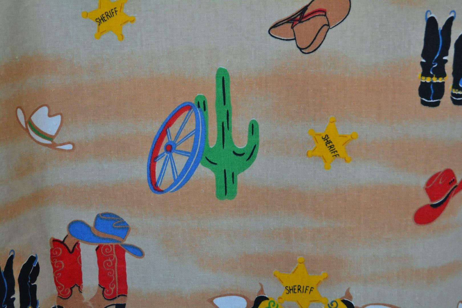 kids cowboy fabric novelty fabric fussy cut little cowboys wild west