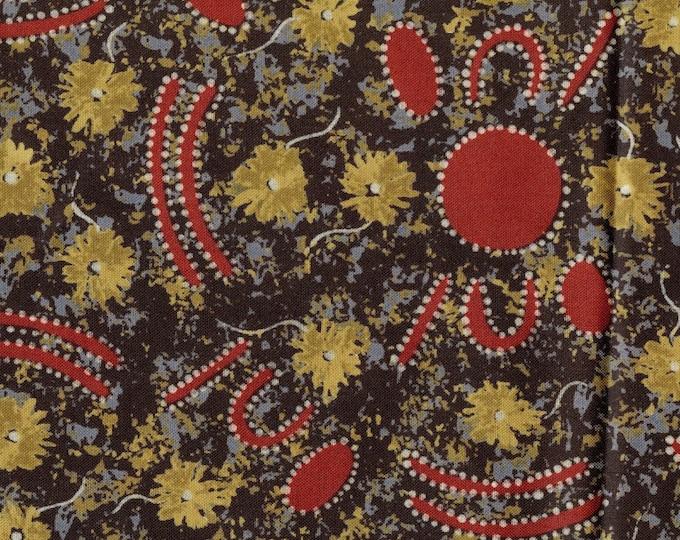Aboriginal fabric, primitive art fabric, Peggy Brown, M and S Textiles