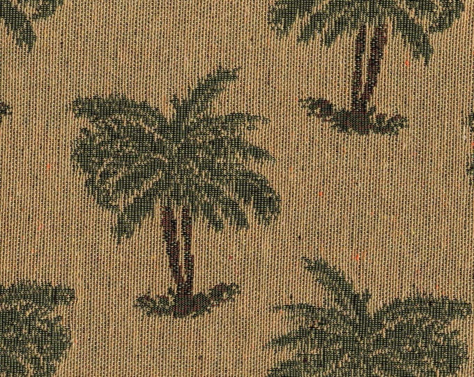 Tropical palm trees, tapestry woven Upholstery fabric