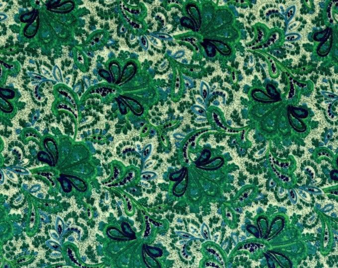 Vintage mod Velvet fabric, swirly floral paisley vibe