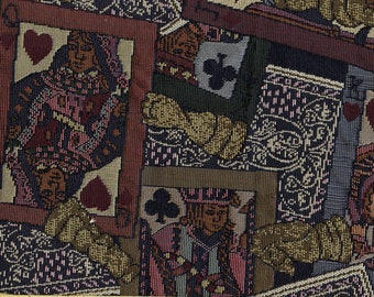 Playing cards tapestry upholstery fabric, gamer or man cave vibe