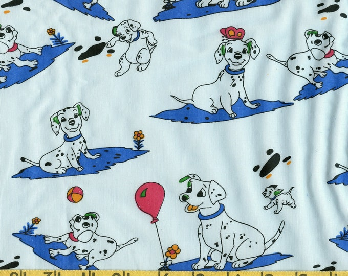 Dalmatian dogs fabric, vintage Disney Dalmatian print SEE PHOTOS