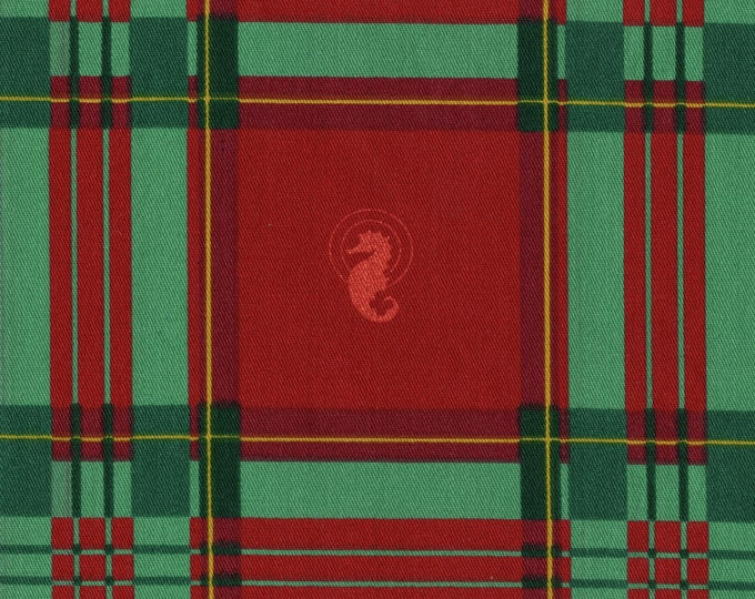 Plaid seahorse fabric, cotton fabric