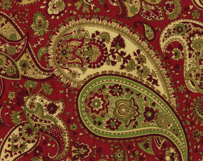 Paisley upholstery fabric, Moroccan kalamkari, Liz Claiborne