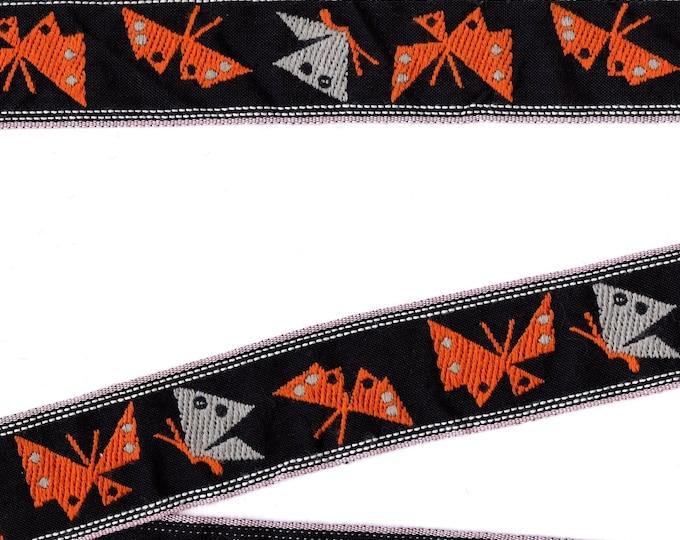 VINTAGE trim, mod butterflies, embroidered trim