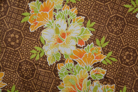 70s Vintage Tropical Upholstery Fabric By The Yard Hawaiian Etsy