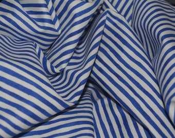 Summer fabric cotton patriotic fabric Blue and White Nautical Stripe quilt fabric by the half yard  Robert Kaufman Patriots 4th of July 4th
