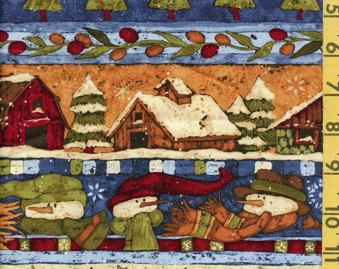 Country Christmas fabric, Rebecca Carter Wilmington Prints