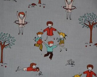 Little Apples Aneela Hoey moda fabric Woodland children moda Japanese cotton Autumn Fall grey quilt fabric whimsical Kawaii