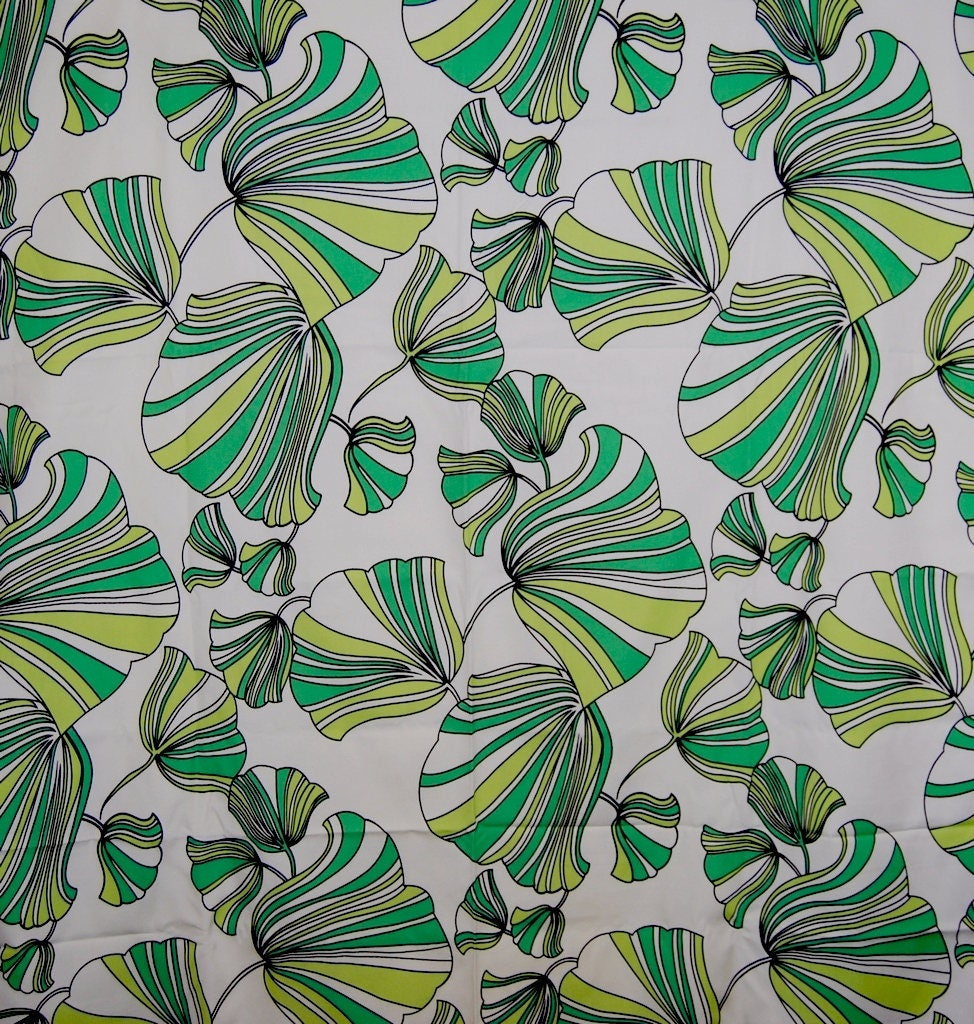 Tropical Jungle Leaves Upholstery Fabric By The Yard Ginkgo Leaf