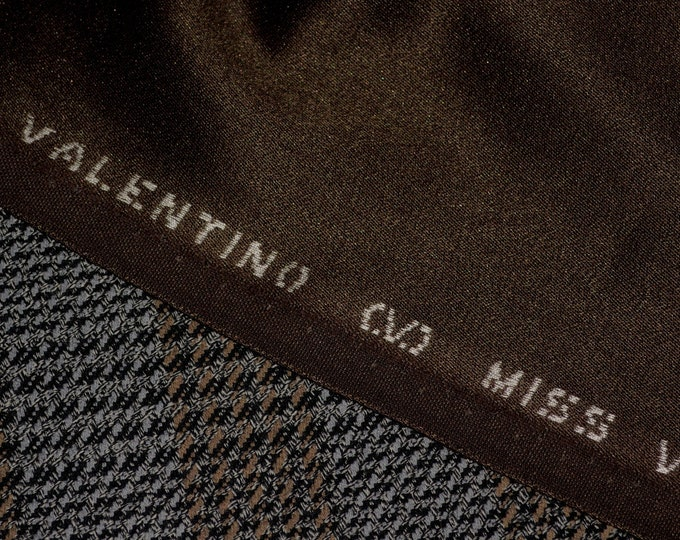 Designer wool blend fabric, Valentino fabric