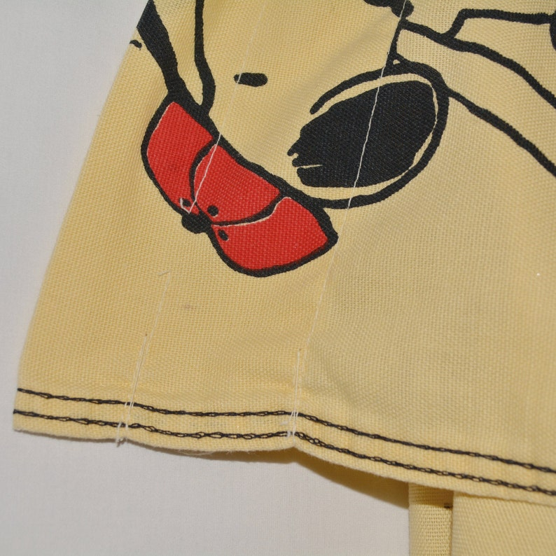 70s Snoopy fabric Classic Snoopy Woodstock comic strip fabric As Is