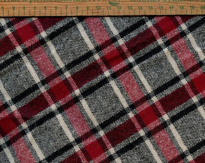 Vintage tartan wool fabric, collegiate vibe
