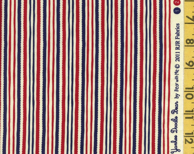 Patriotic stripe fabric, Yankee Doodle, RJR Fabrics