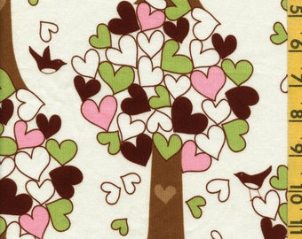 100 % cotton fabric, whimsical trees Chirp Hennagir Robert Kaufman