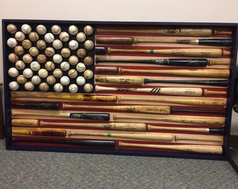 Merveilleux USA Flag   American Flag   Baseball Bat U0026 Baseball American Flag