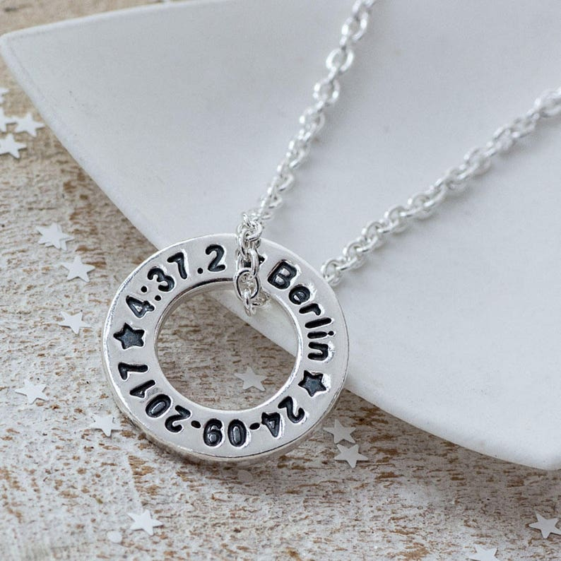 f7fe9a1450962 Personalised Running Gift, Necklace for Runner, Marathon Runners Necklace,  Gift for Runner, Personalised Pendant, Personal Best Necklace