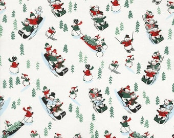 White Christmas Snow Scene  - By Patrick Lose - For RJR - 1 Yard - 8.50 Dollars
