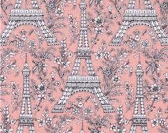 Eiffel Tower by Michael Miller - 1 Yard - Pink - 9.50 a yard