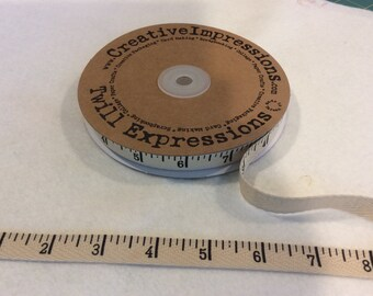 Antique Tape Measure - Twill - By Creative Impressions - 25 Yard Roll - 14.95 Dollars - 1/2 inch wide