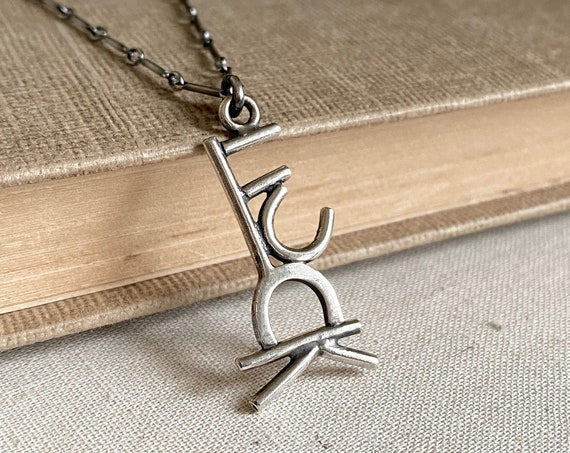 Fuck (#1 of 3, Small) Sterling Silver Necklace -  OOAK Handcrafted Artisan Jewelry
