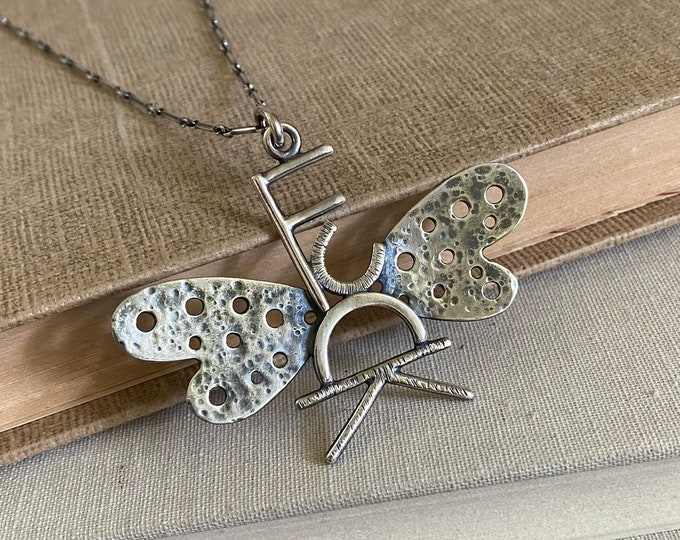 Flying F*ck Sterling Silver Necklace /// One-of-a-kind Slow Crafted Artisan Jewelry