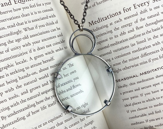 Sterling Magnifying Glass Monocle Necklace - OOAK Handcrafted Artisan Jewelry