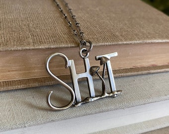 Sh*t & Shrooms (#2 of 2) Sterling Silver Necklace /// One-of-a-kind Slow Crafted Artisan Jewelry