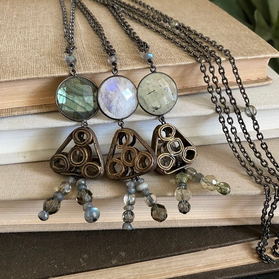 Rag Doll Gemstone Pendant Necklace // One-of-a-kind // Slow Crafted // Hand Fabricated // Artisan Jewelry