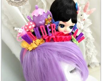 Alice in Wonderland Headband -Mad Tea Party Birthday- Halloween Costume