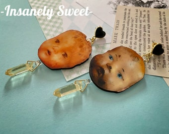 Arm candy Necklace and Earring set Vintage Doll Jewelry creepy doll jewelry antique doll parts