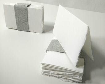 25 Cartes De Place Chiffon Coton Bord Frangs