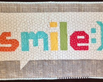 Smile:) Quilted Wall-hanging/ Table topper