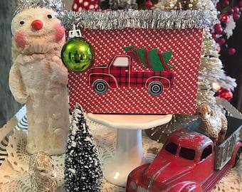 Little Red Truck Shelve Sitter, Bowl Fuller, Ornament