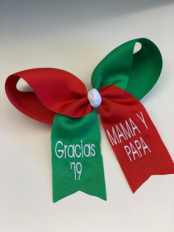 Mexican Grad Cap 2020 Hair Bow Spanish Decoration Red Green Graduation Gift Idea College Gifts High School Flag Colors Hispanic Mexico