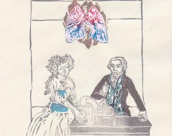 Antoine-Laurent Lavoisier and Marie-Anne Paulze Lavoisier as the Lovers Tarot - Founders of Modern Chemistry, History of Science, Biology