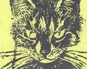 Custom Pet Linocut Portrait by minouette - Animal, Pet, Custom Portrait, Lino Block Print, Cat, Dog and More