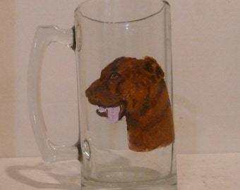 Chesapeake Bay Retriever Dog Beer Mug Hand Painted by Mary Wilson of Pet Lovers Boutique