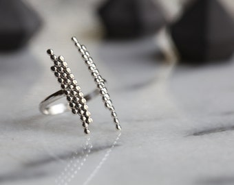 READY TO SHIP. S t e l l a .Silver Ring