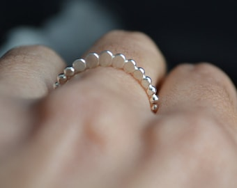Princess Tiara silver ring, stacking ring