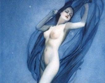Super Sale 12x18 Proof Alberto VARGAS The BLUE NUDE 30s Art Deco Pin-Up Rare limited edition Original Ziegfeld Follies Esquire Playboy Pinup