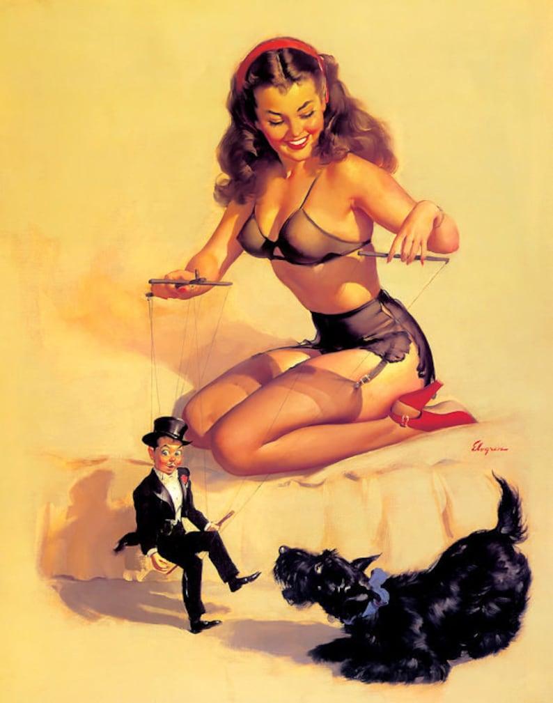 Erotic enema girl art
