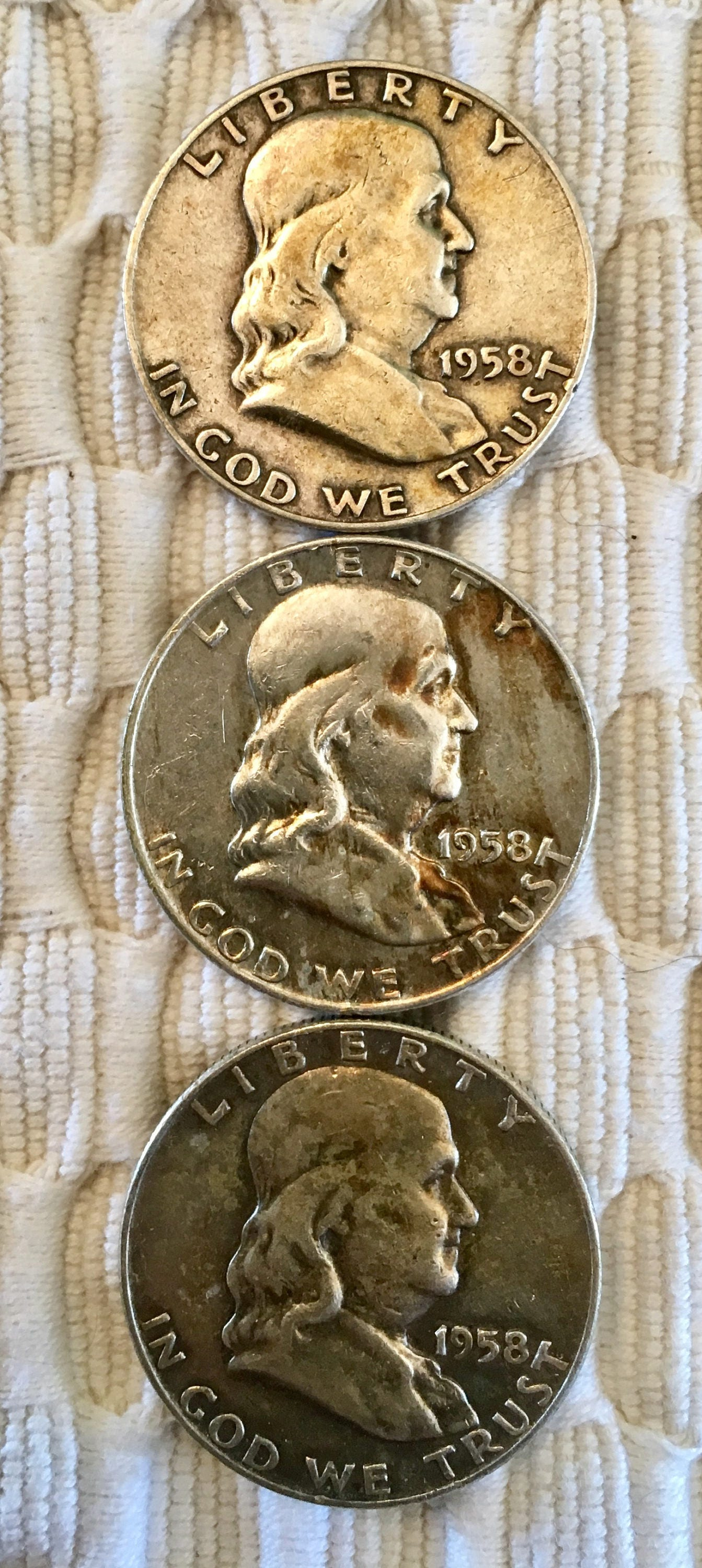 Rare DOUBLE Die Makers Mark Extra Fine 1964 D Half Dollar