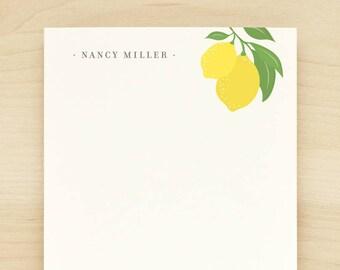 LIMONE Personalized Notepad - Yellow Lemon Pretty Feminine