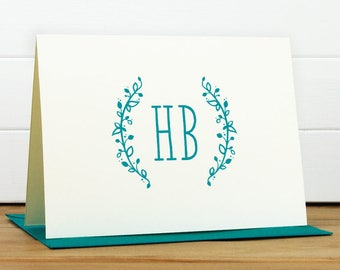 Stationery - SPRIG Personalized Stationery Set - Personalized Stationary Set - Custom Personalized Notecard Set - Monogram Bridal Gift