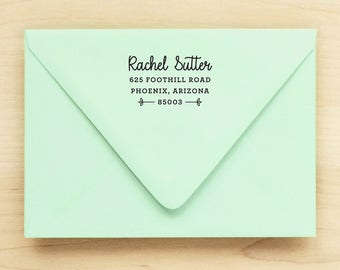 Return Address Stamp / Custom Address Stamp / Custom Return / Self Inking Return Address Stamp  - DAINTY DESIGN - Wedding Anniversary Gift