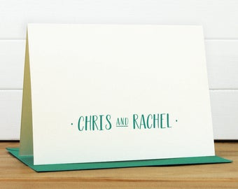 Personalized Stationery Set / Personalized Stationary Set - TWOSOME Custom Personalized Note Card Set - Couple Wedding Engagement